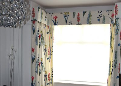 Floral floor length curtains